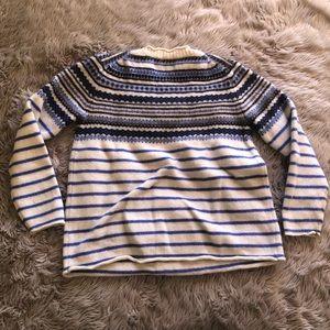 J. Crew Sweaters - J. crew • blue patterned sweater